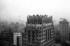 Art Deco ~ Detroit | Industrial Stevens Apartments, 1410 Washington Blvd. Designed by Louis Kamper, 1928.