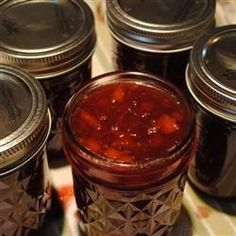 Sugar Plum Jam - When fresh plums are in season, put up some red plum jam with holiday flavors of clove and allspice. It makes a beautiful Christmas gift or addition to your Thanksgiving table.