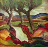 Weide am Bach von August Macke