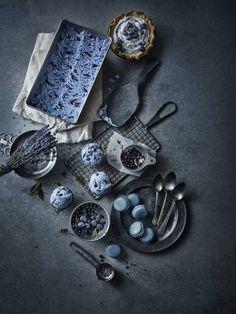Photographer GREG STROUBE  Black And White And Blue Food    Ice Cream  ONE EYELAND
