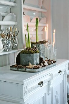 WSH loves this nordic rustic vignette. Via Vibeke.