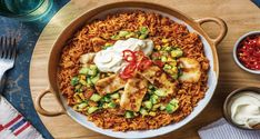 Imagine a bed of rice infused with the Mexican flavours you love, then topped with squeaky haloumi and a refreshing corn, cucumber and tomato salsa. Mexican Rice Recipes, Rice Recipes For Dinner, Beef Tapa, Spiced Rice, Pinoy Food, Vegan Kitchen, Delicious Vegan Recipes, Recipe Collection, Meals