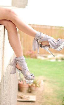 Clear heels get a classy makeover