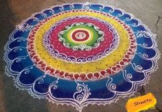 Get colorful holi rangoli designs, try them for holi rangoli competitions. These fresh rangoli designs are simple, latest, beautiful and easy to create.