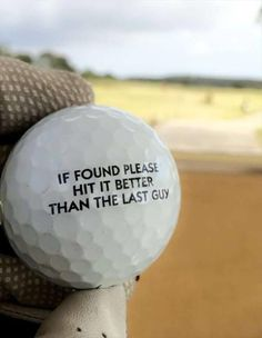 Cool golf ball …