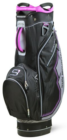 Gray/Black/Orchid Sun Mountain Women's Series One Golf Cart Bag available at one of the top shops for ladies golf bags #lorisgolfshoppe