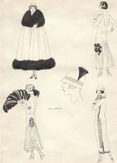 Cave to Canvas, George Barbier, Fashion Sketch, c. 1927