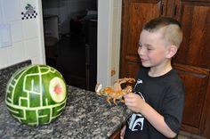 Watermelon Death Star!   Gravity of Motion: WFMW: Star Wars Lego Party