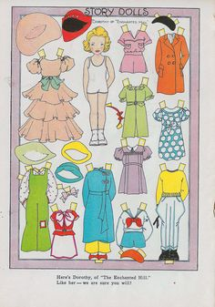 """DOROTHY """"of Enchanted Hill"""" Paper Doll 