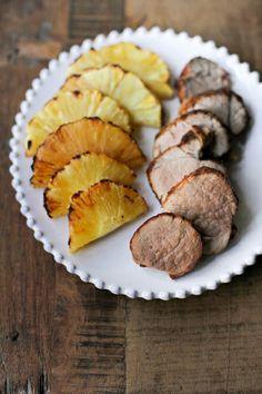 filetto di maiale glassato all'ananas