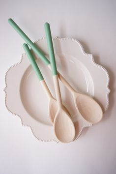 Color dipped Wooden Spoons