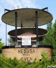 World's Largest Cherry Pie,  Charlevoix, Michigan.