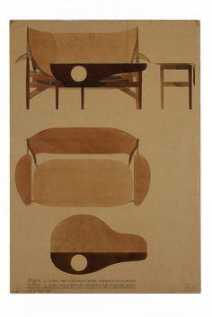 obliqdesign: Danish Museum Danmark : Sense of Furniture - Finn Juhl 100 Mod Furniture, Danish Modern Furniture, Mid Century Modern Furniture, Mid Century Modern Design, Contemporary Furniture, Vintage Furniture, Furniture Design, Furniture Sketches, Scandinavian Design