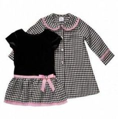 4b931bf66475 Toddler Houndstooth Dress and Coat Set - Youngland Dresses - Events