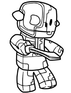 minecraft coloring pages zombie pigman | coloring Pages