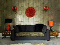 Metallic tiled look wallpaper Bold Living Room, Home And Living, Living Room Decor, Living Rooms, Urban House, Look Wallpaper, Brave Wallpaper, Living Room Remodel, Dream Decor