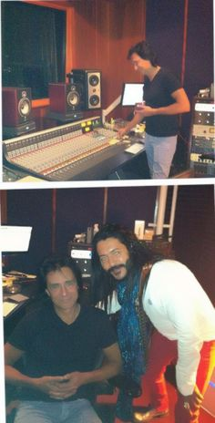 With my Rock Star Friend and Client Aleks DeCarvalho ( NO MYSTERY MUSIC ) in his Studio