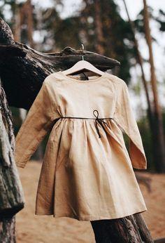Handmade Sand Linen Baby Toddler Dress | Etsy