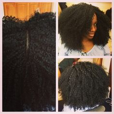 Crochet Weaving: Great Protective Style. Whole head done using only a bobby pin No needle or thread necessary (except to sew down the loose ends of cornrow braids). Wonderful installation, especially when you want to feel your scalp. You can part it anywhere and put it up.