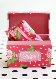 Love this recipe box!!!! - I have way too many recipe boxes as it is.  Once I really like something I buy too many!  Why would I need four recipe boxes?