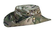 Tilley LT3C Camo Print Snap-Up Medium Brim Hat. Machine washable, won't shrink