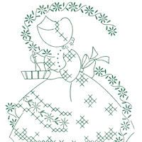 Sunbonnet Gal Days Of The Week: {Embroidery} : TipNut.com
