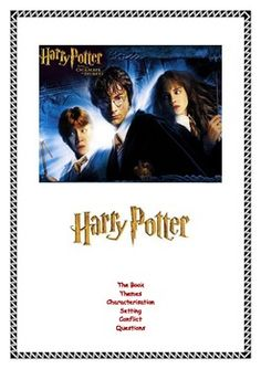 This worksheet examines the first 4 books in the Harry Potter series. It particularly looks at the following elements in detail:  • Themes  • Characterisation  • Setting  • Conflict  This resource has 21 discussion questions which ask students to unpack the various literary elements of the books.