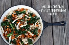 Shredded Chicken and Sweet Potato Hash with Kale