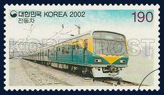 Train Series (3rd), commemoration, train, Gray,Yellow, Green, 2002 02 04, 기차시리즈(세번째묶음), 2002년 02월 04일, 2206, 수도권전동차, Postage 우표