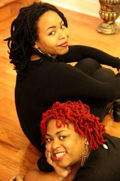 Sisters- locs #dreads #colors