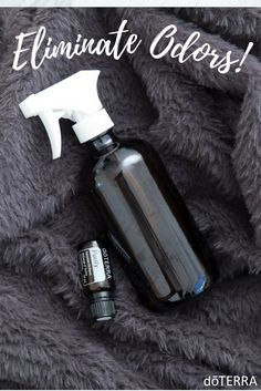 Fill a glass spray bottle with 5 drops Purify, 3/4 cups distilled water and 2 tablespoons rubbing alcohol. Use on your furniture and blankets to eliminate odors in your home.