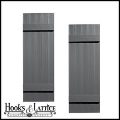 Architectural exterior shutters are offered in four high quality