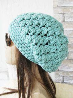 Slouchy Beanie Crochet Hat   Slouchy  Hat   Beanie Hat   by Ebruk