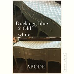 Painted sideboard on Annie Sloan duck egg blue and old white painted by myself ❤️