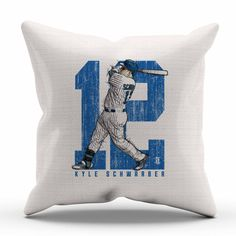 Kyle Schwarber Sketch B Chicago C Decorative Pillow Officially Licensed