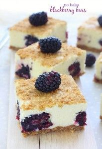 No bake blackberry bars recipe