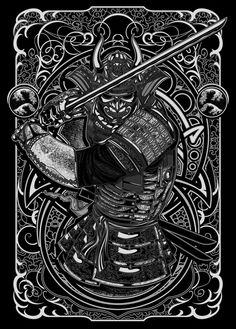 Illustration vectorielle du samouraï de Deni Dessastra