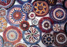 Beaded Kuchi medallions....love these!