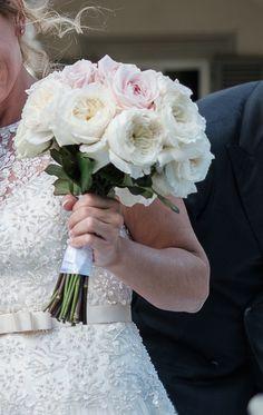 David Austin english roses bridal bouquet