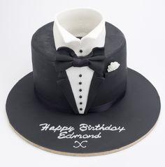 tuxedo birthday cake, mens cake, birthday, cake