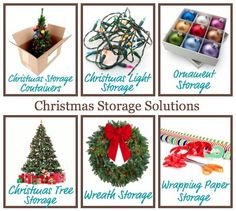 Lots of ideas for Christmas storage solutions for your home.