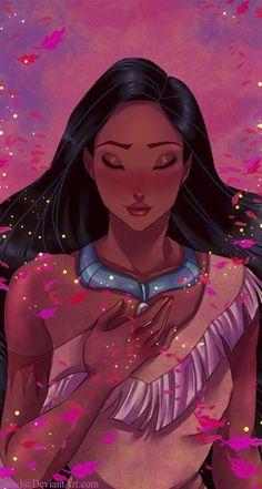 Résultat d'images pour princesses disney pocahontas Disney Pocahontas, Disney Pixar, Disney Fan Art, Disney Animation, Heros Disney, Film Disney, Disney Princess Art, Disney Girls, Disney Cartoons