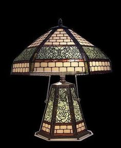 Tiffany style Stained glass Table Lamp QC182508
