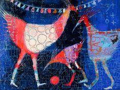 Elke Trittel acrylic on paper A4