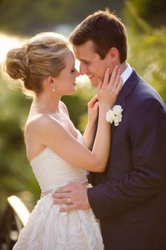 Hair for beautiful bride & groom by Patti Morales