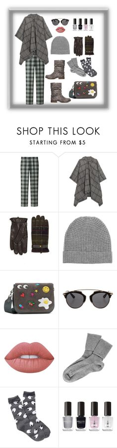 """""""Casual Plaid"""" by digsystuff ❤ liked on Polyvore featuring Uniqlo, Balenciaga, Barbour, Madeleine Thompson, Anya Hindmarch, Christian Dior, Lime Crime, Black, Free Press and Eleccio"""