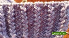Punto elástico Frances. TEJIDO con dos AGUJAS #11 Knitting Club, Knitting Videos, Crochet Videos, Loom Knitting, Knitting Stitches, Love Crochet, Knit Crochet, Crochet Hats, Stitch Patterns
