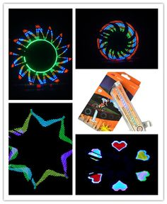 2set/lot 32LEDs Programmable Glowing Bicycle Wheel Safety Lights Warning Light For Night Sport Running Novelty Favors