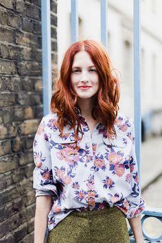 rousse + fleurs = love couleur de cheveux roux