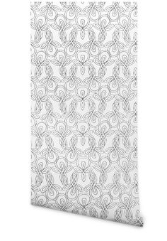 Entryway wallpaper - Terrence Payne - Hygge & West | Knots in Gray